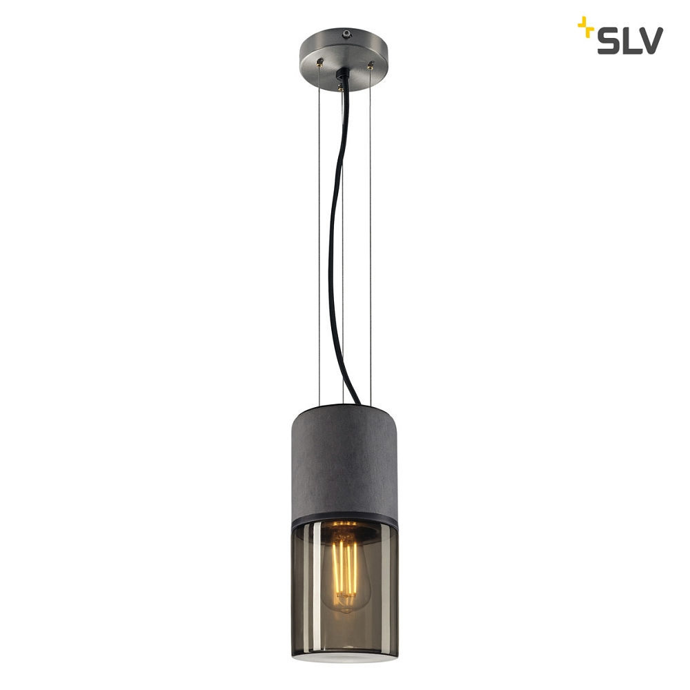pendelleuchte lisenne e27 rauchglas slv ks licht. Black Bedroom Furniture Sets. Home Design Ideas