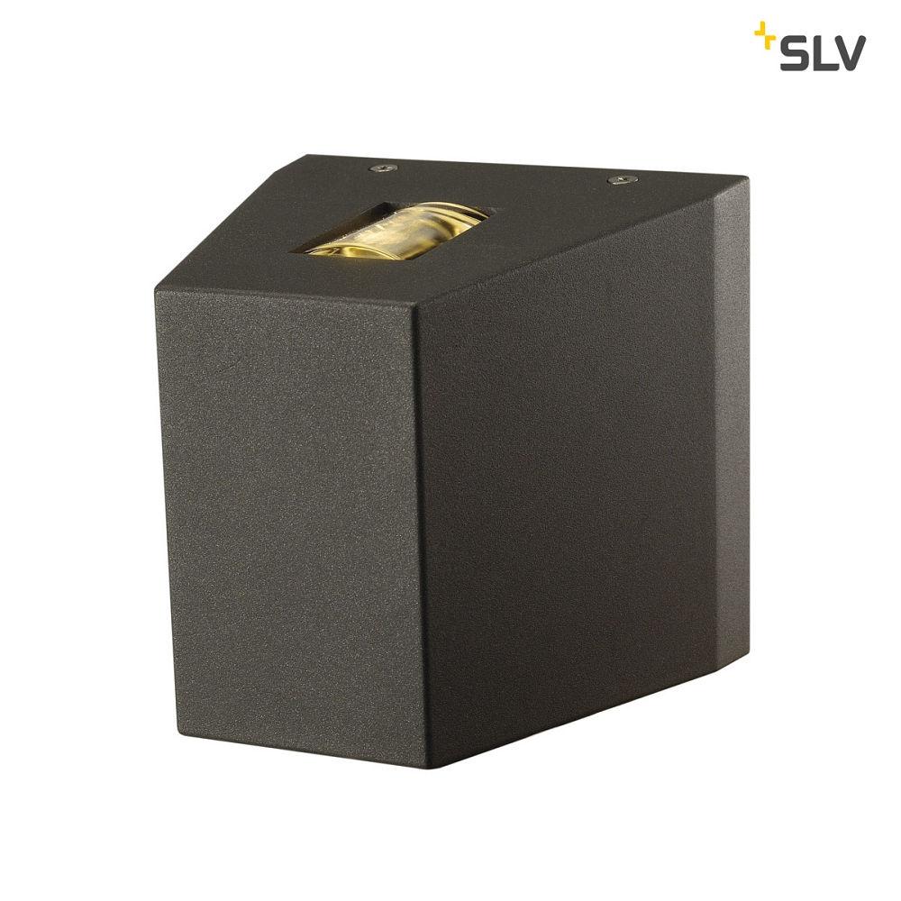 led au enwandleuchte out beam up down led strahler 2x led 2 3000k anthrazit slv ks. Black Bedroom Furniture Sets. Home Design Ideas
