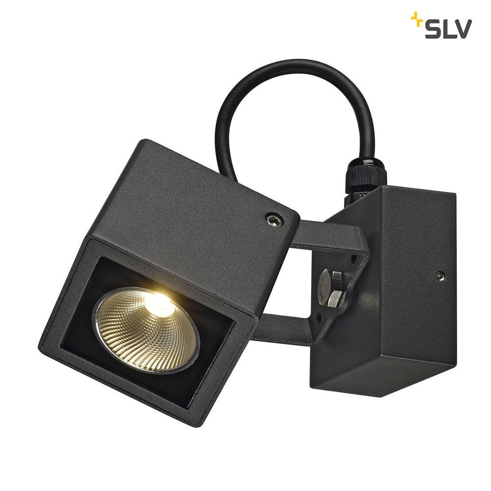 led au enstrahler small square led wandleuchte eckig anthrazit 6w 3000k slv ks licht. Black Bedroom Furniture Sets. Home Design Ideas