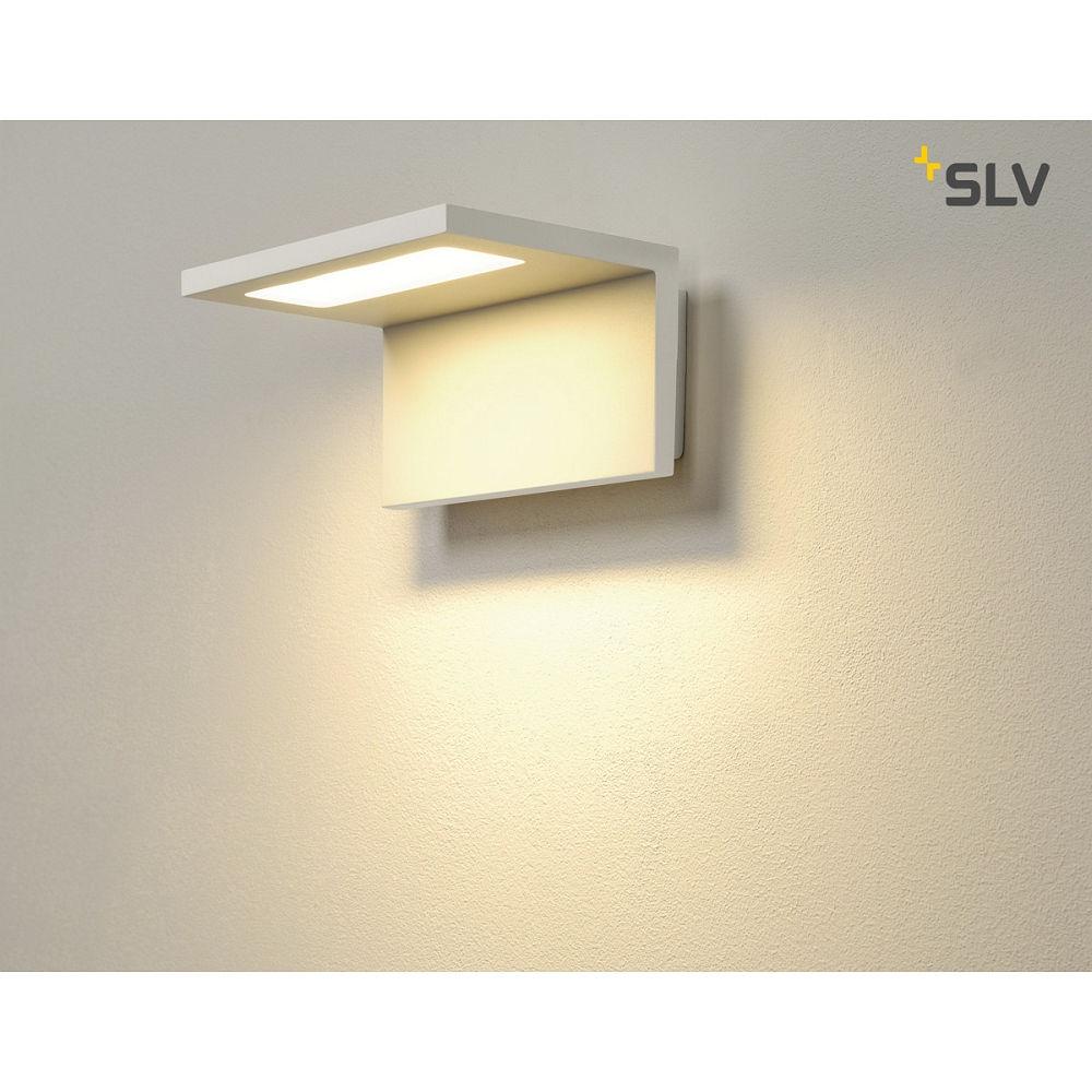 led au enleuchte angolux wall wandleuchte 120 smd led 3000k ip44 slv ks licht. Black Bedroom Furniture Sets. Home Design Ideas