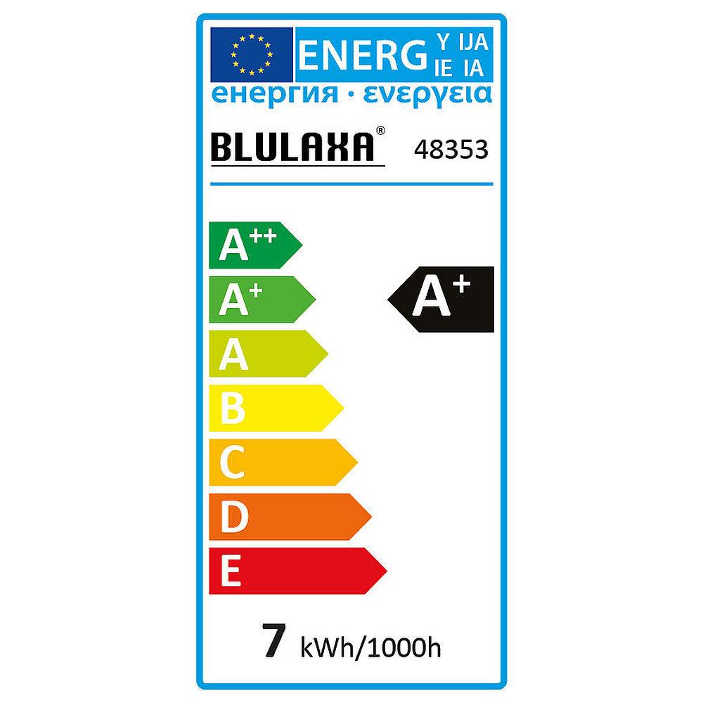 Blulaxa led filament vintage kopfspiegellampe birnenform 7w 180 e27 warmwei glas klar - Kopfspiegellampe led e27 ...