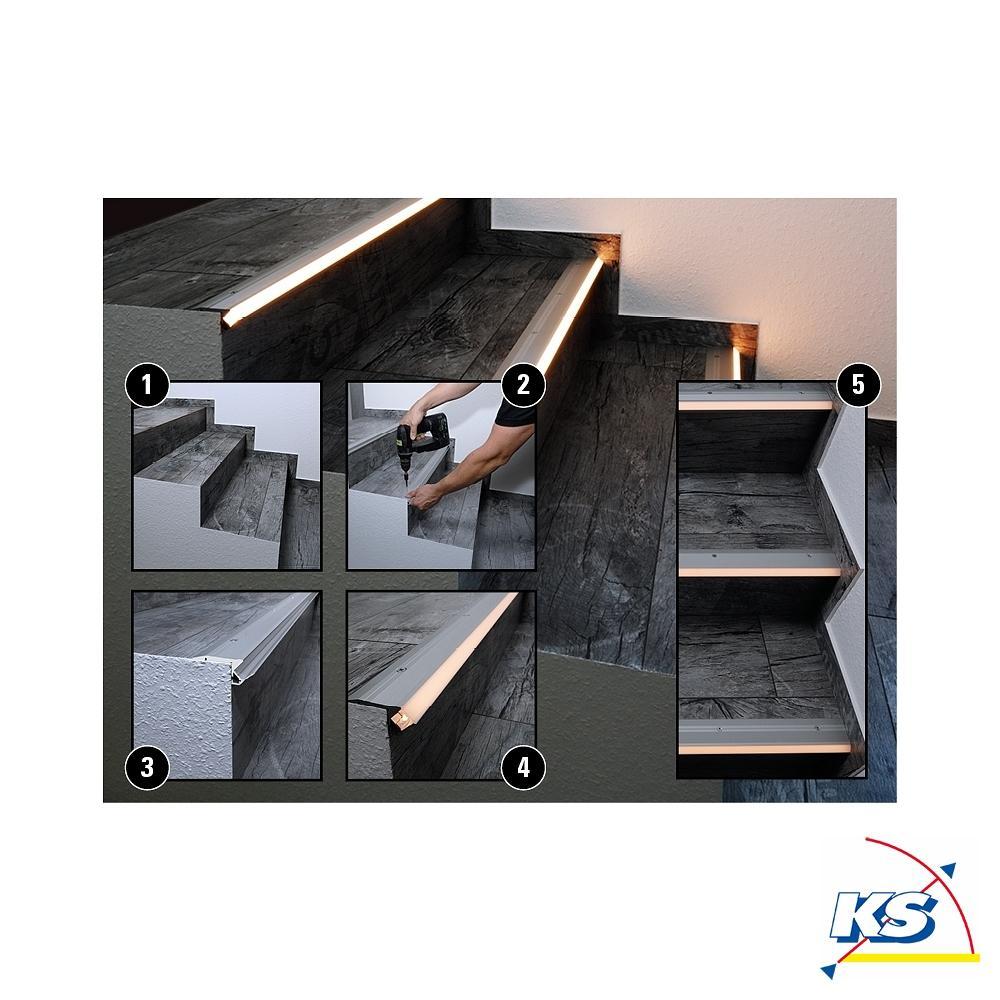 led profil al 01 10 treppenstufen profil f r 10 11 3mm led stripes aluminium eloxiert deko. Black Bedroom Furniture Sets. Home Design Ideas