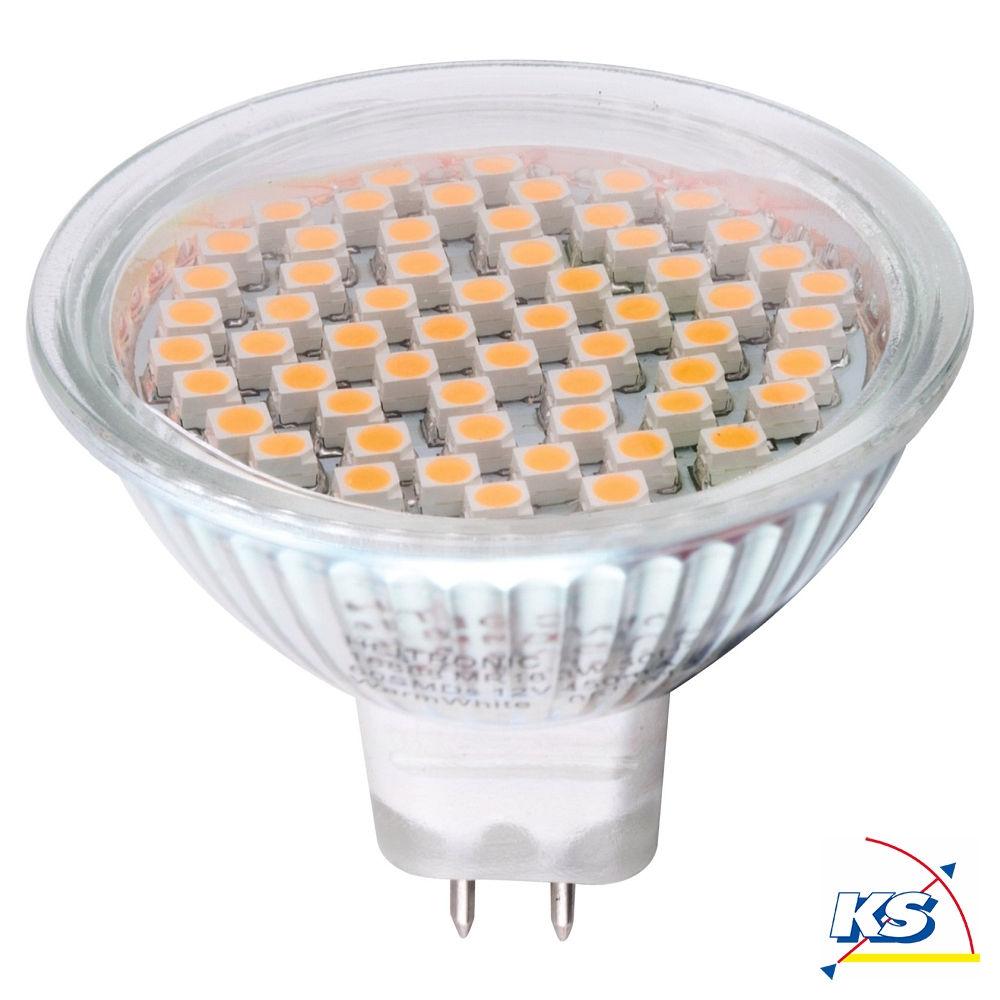 Heitronic LED Leuchtmittel MR16 GU5,3, 60SMD LED, 3W, warmweiß - KS ...