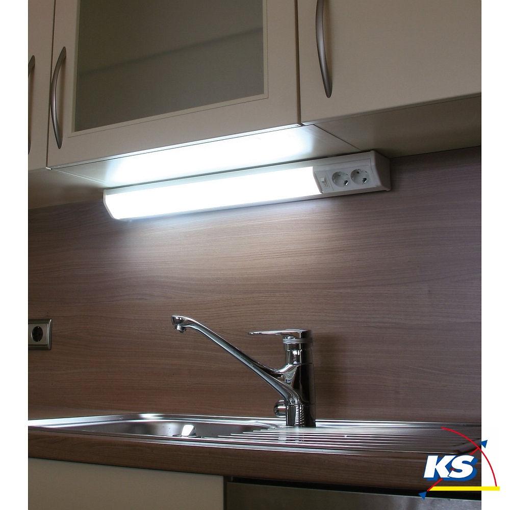 Unterbauleuchte BONN, LED, warmweiß, mit 2 Steckdosen - KS Licht ...