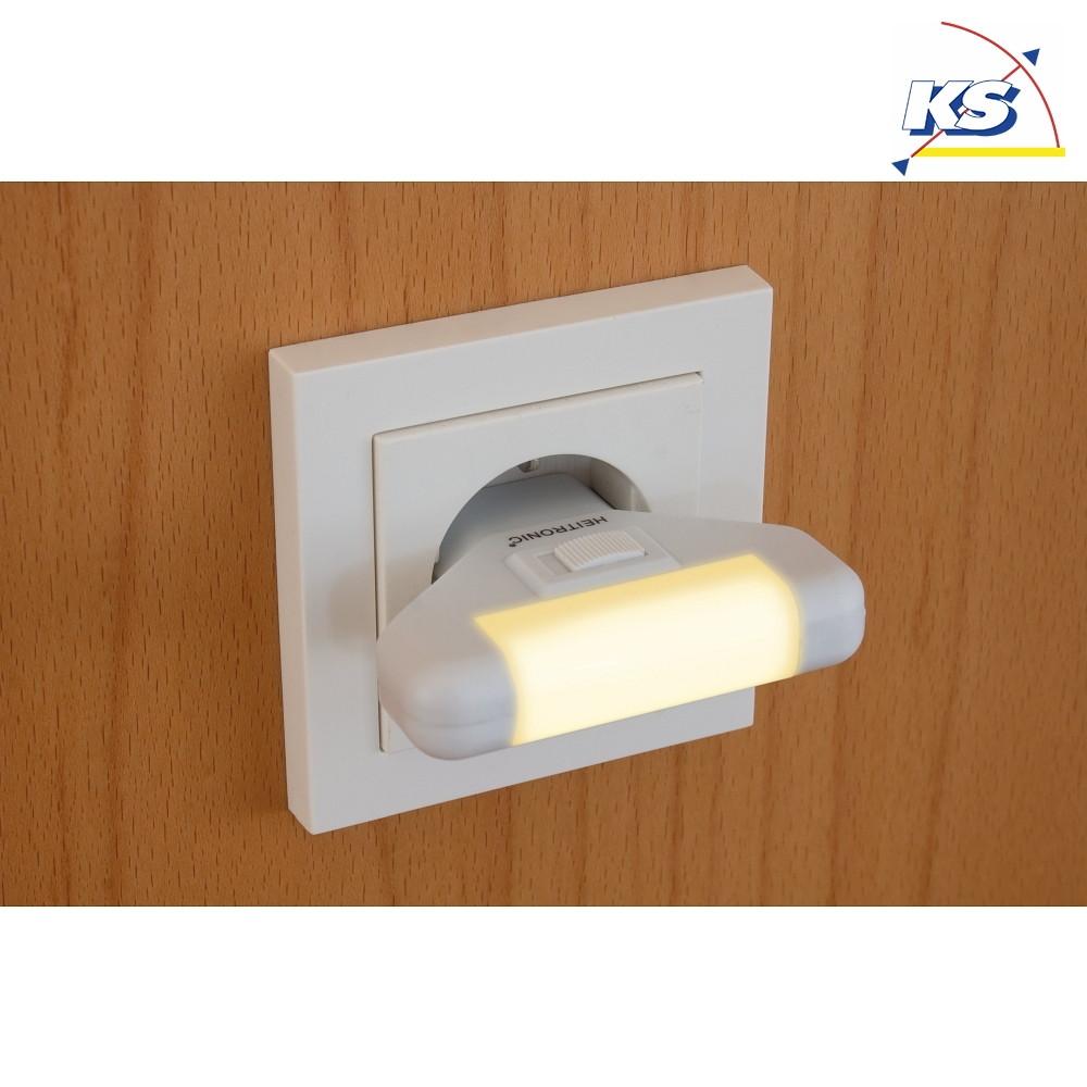 LED Nachtlicht WILU, 1W, IP20, warmweiß, mit Ein Ausschalter, weiß