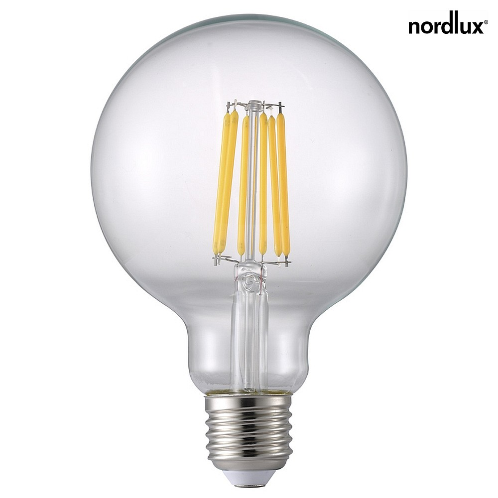 nordlux led filament globe dimmbar e27 7 7w 2700k 1055lm. Black Bedroom Furniture Sets. Home Design Ideas