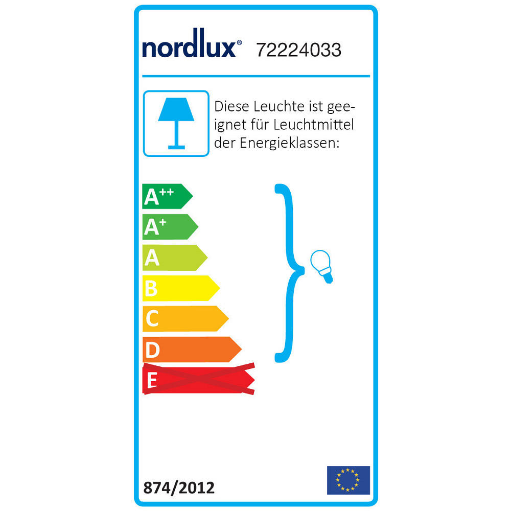 Nordlux Stehleuchte RAY 2, 2-flammig, E14, IP20, mit Dimmer, chrom ...