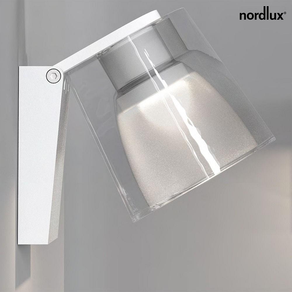 nordlux led badleuchte ip s12 led wandleuchte 3w led 3000k 190lm ip44 dimmbar wei. Black Bedroom Furniture Sets. Home Design Ideas