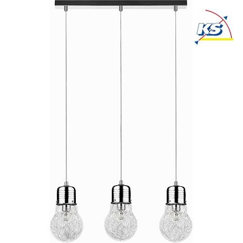 deckenleuchte bulb 3 flammig e27 chrom ks licht. Black Bedroom Furniture Sets. Home Design Ideas