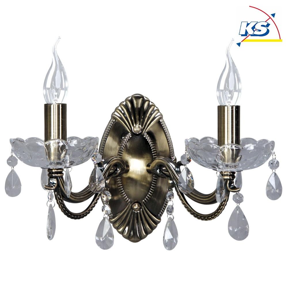 wandleuchte corelia altmessing 2 flammig spot light ks licht onlineshop leuchten aus essen. Black Bedroom Furniture Sets. Home Design Ideas