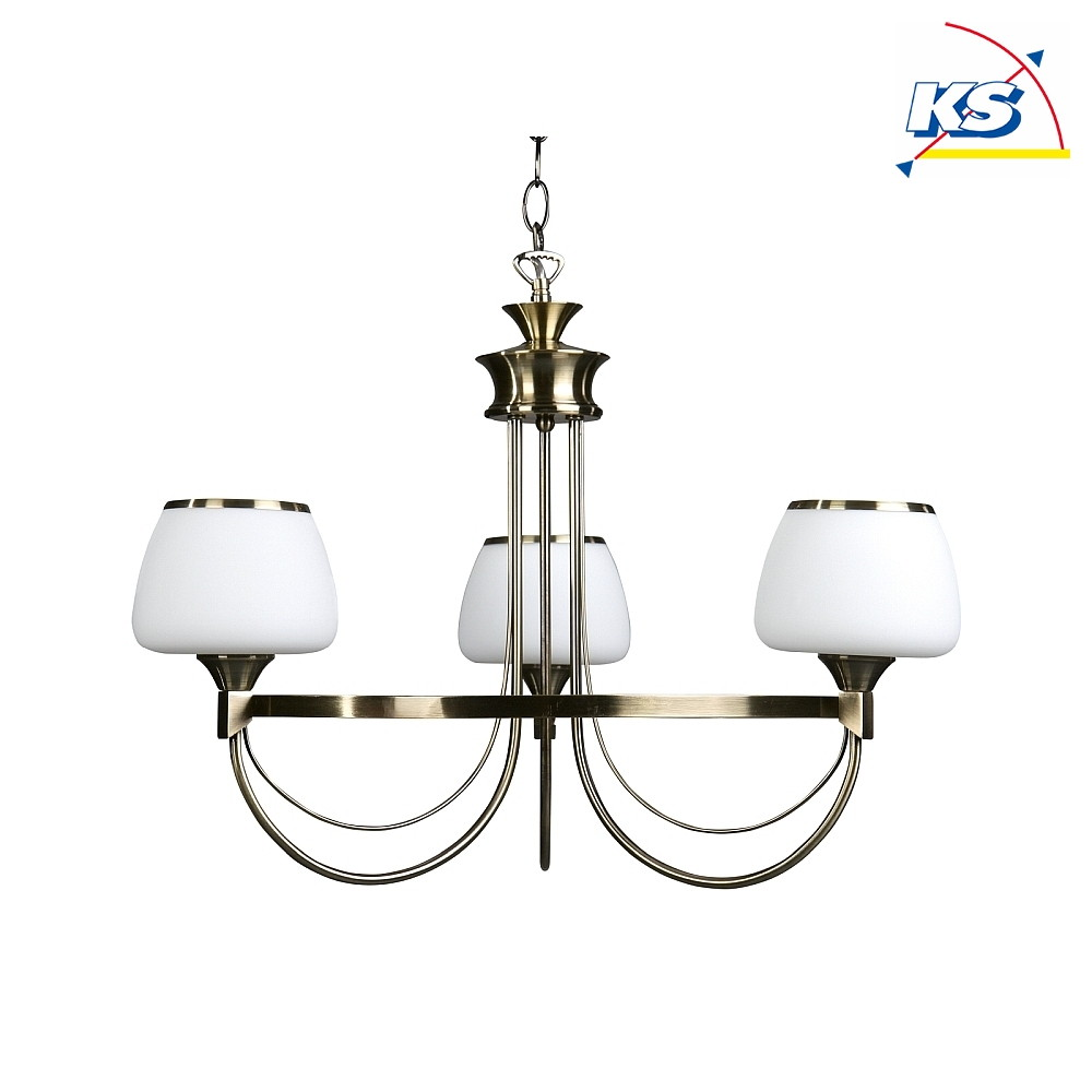 kronleuchter ronda 3 flammig e14 altmessing wei britop lighting ks licht onlineshop. Black Bedroom Furniture Sets. Home Design Ideas