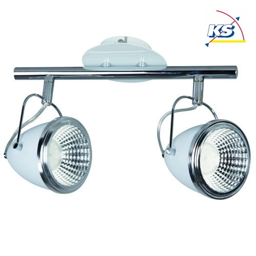 led spot schiene oliver 2 flammig incl 2x5w led gu10in wei chrom spot light ks licht. Black Bedroom Furniture Sets. Home Design Ideas