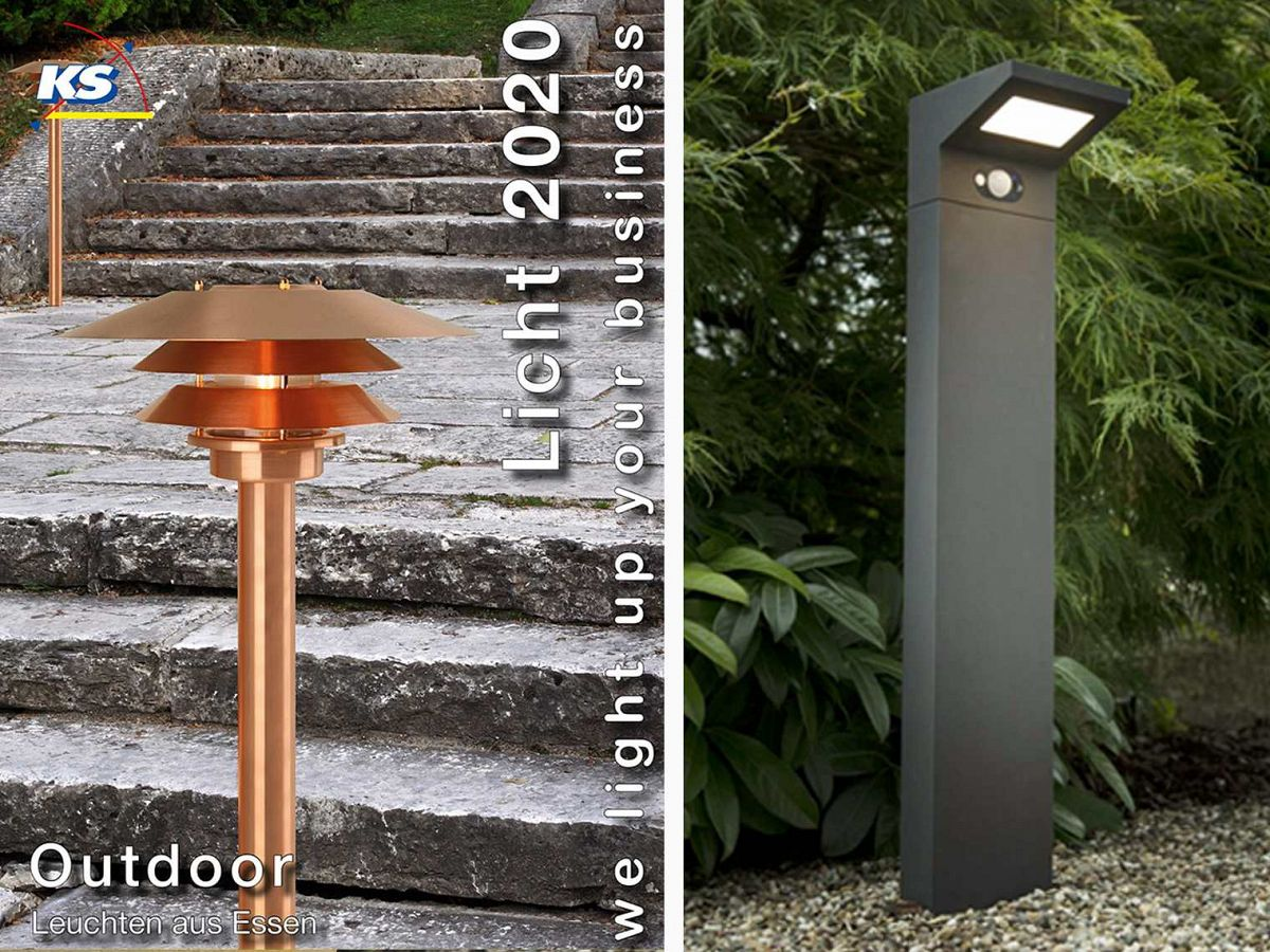 Highlight No 4: OUTDOOR Solar Wand- und StandleuchtenL