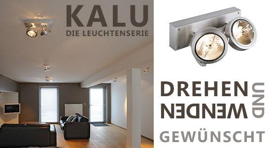 Drehen und Wenden erwünscht - KALU Leuchtenserie für Wand, Decke und Boden.
