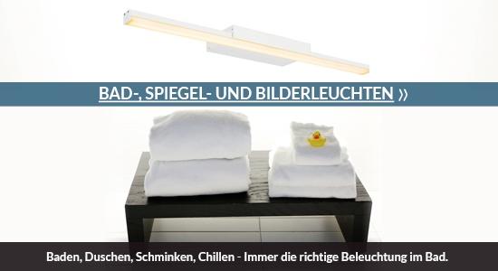 Baden, Duschen, Schminken, Chillen - Bad-, Spiegel- und Bilderleuchten - Immer die richtige Beleuchtung im Bad.