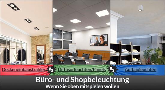 Büro- und Shopbeleuchtung - Beleuchtungskonzept mit Anspruch