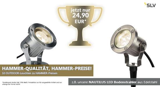 HAMMER-PREIS-AKTION für NAUTILUS und weitere Außenleuchten