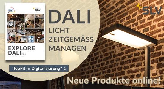 Sprechen Sie DALI - 3-Phasen-HV-Stromschienensystem S-TRACK und viele weitere Produkte jetzt DALI fähig.
