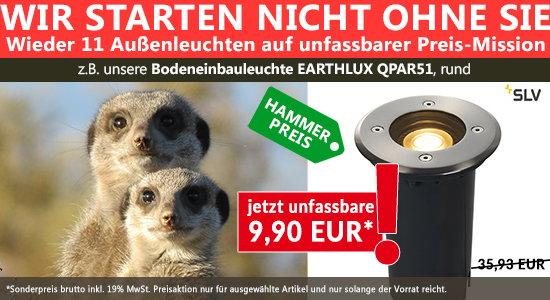HAMMER-PREIS-AKTION FÜR IHREN GARTEN - Wieder 11 Leuchten auf unfassbarer Preis-Mission.