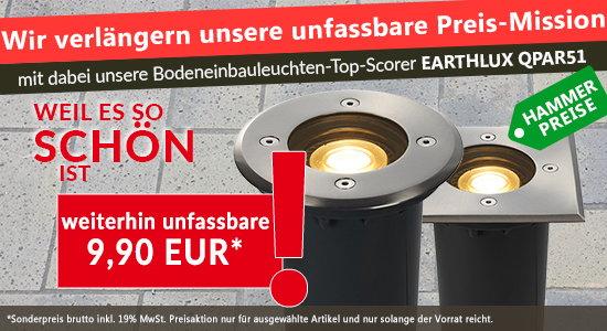 In der Pole Position der Bodeneinbaustrahler EARTHLUX QPAR51 – Wir verlängern unsere Preis-Mission für Sie.
