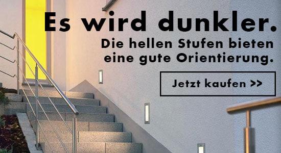 Wege, Treppen und Einfahrten zur Orientierung beleuchten