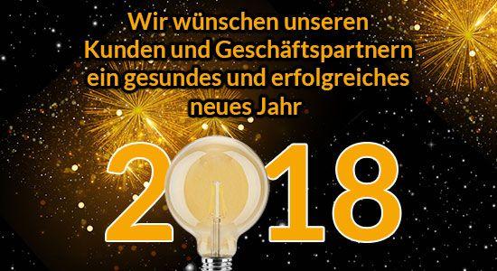 Wir wünschen unseren Kunden und Geschäftspartnern ein gesundes und erfolgreiches neues Jahr.