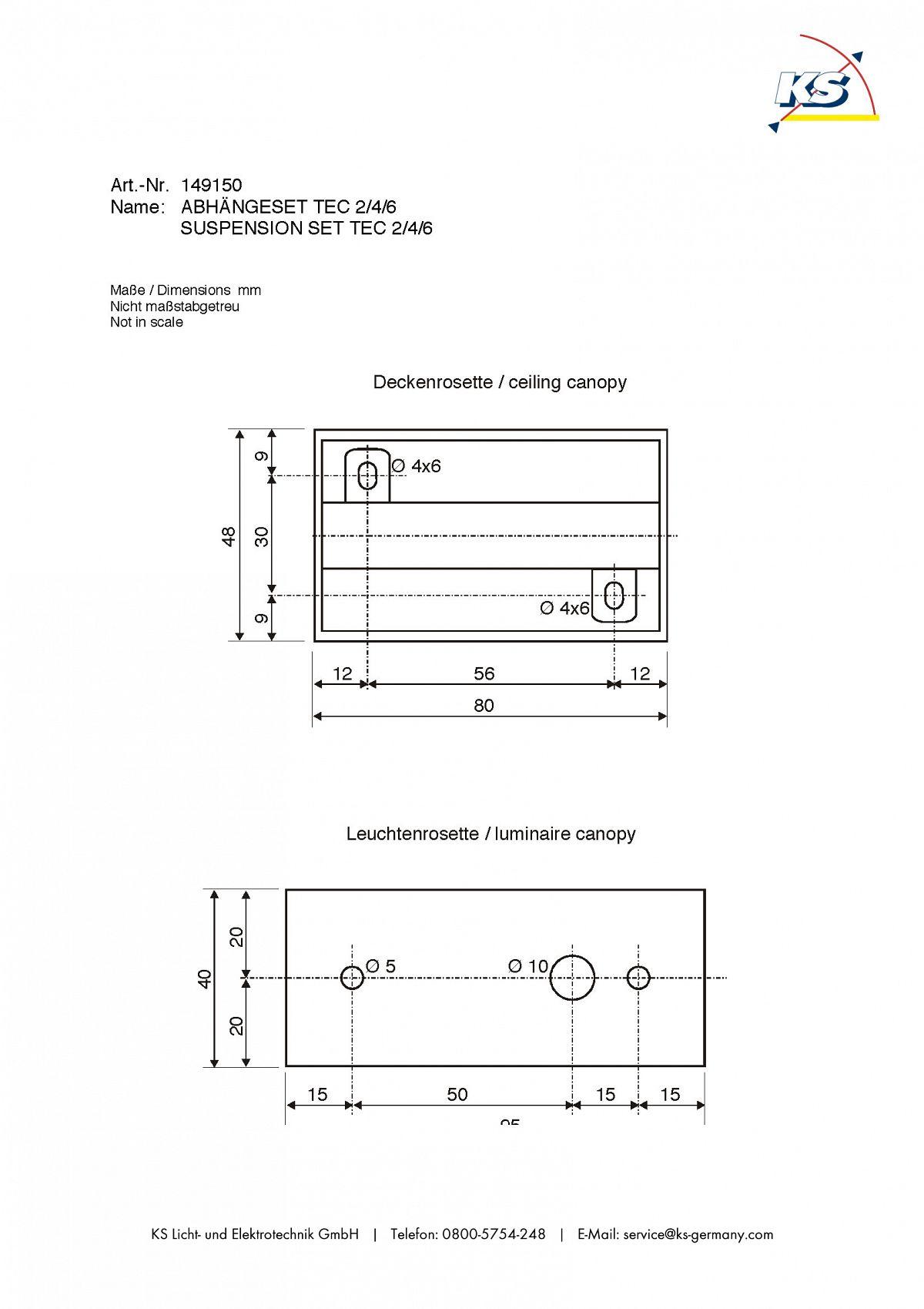 abh ngeset f r die leuchten tec 2 4 6 ks licht onlineshop leuchten aus essen. Black Bedroom Furniture Sets. Home Design Ideas