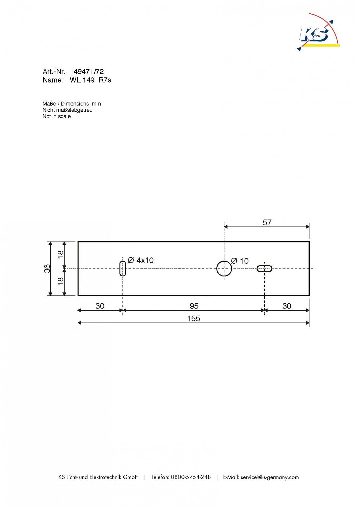 Ks Lichttechnik wandleuchte wl 149 r7s rechteckig 78mm max 60w chrom ks licht