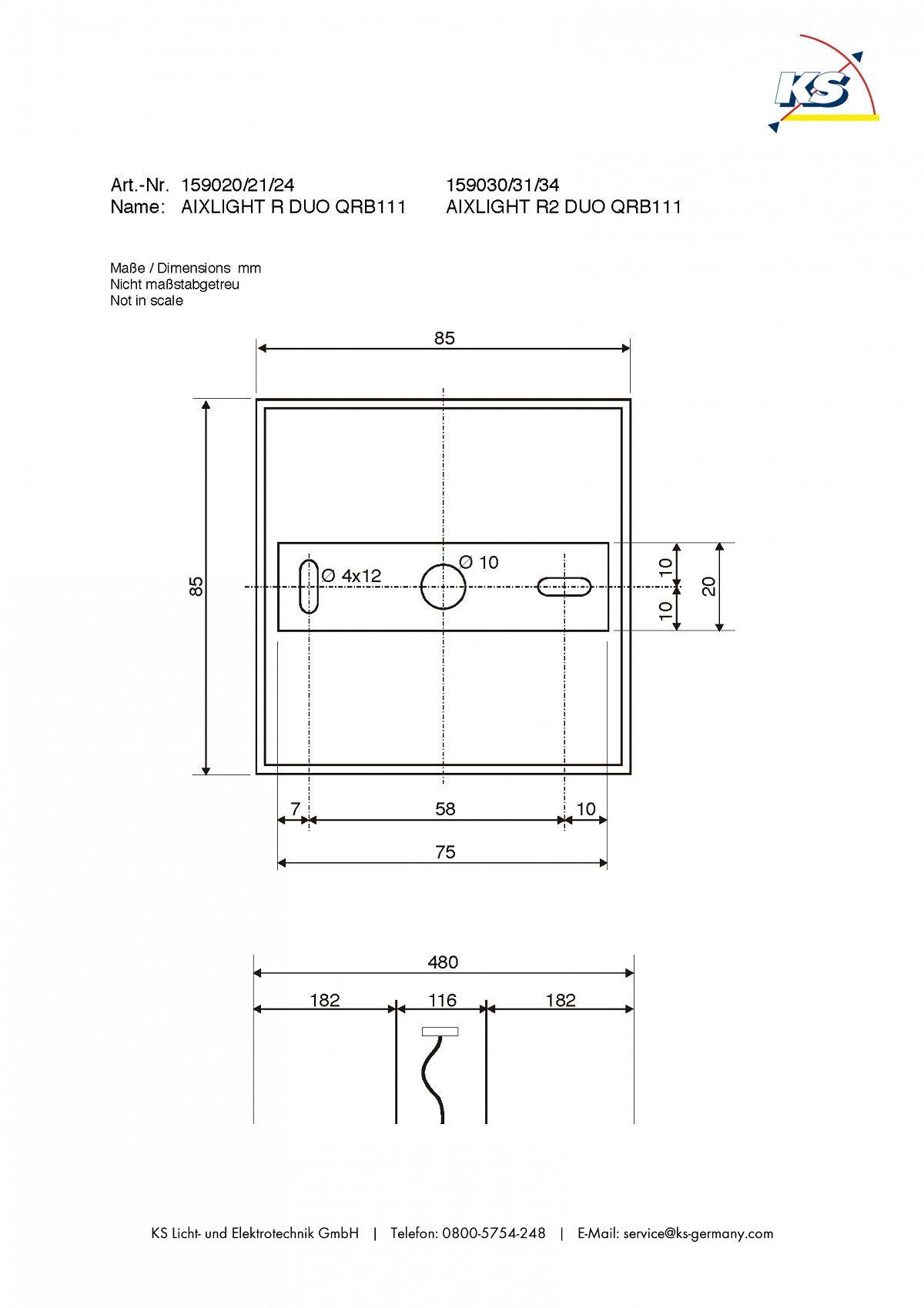 pendelleuchte aixlight r2 duo qrb111 halb rund g53 max 2x50w schwarz ks licht onlineshop. Black Bedroom Furniture Sets. Home Design Ideas