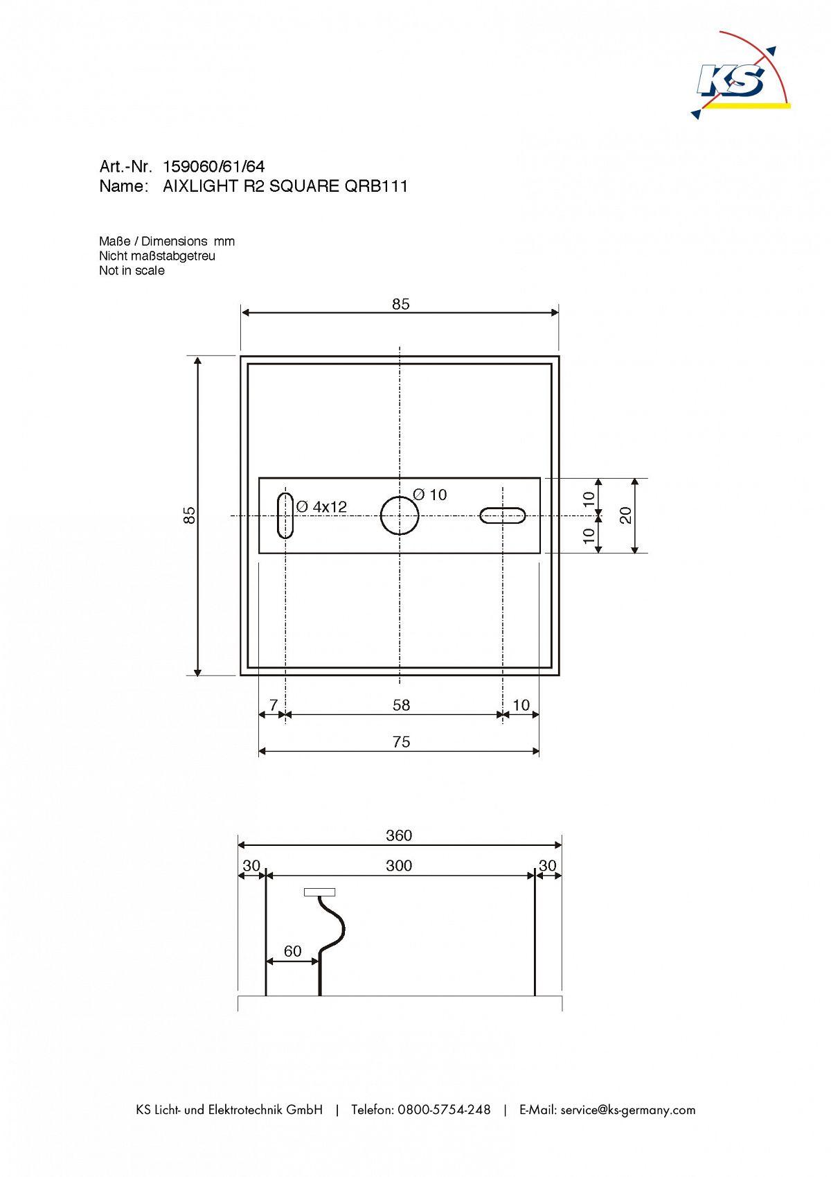pendelleuchte aixlight r2 square qrb111 halb rund g53 max 4x50w wei ks licht onlineshop. Black Bedroom Furniture Sets. Home Design Ideas